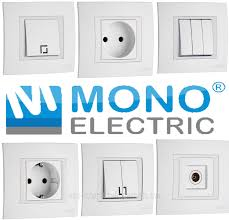 Вимикачі, Розетки Mono Electric