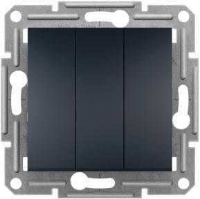Schneider ASFORA Вимикач 3-х клавішний антрацит EPH2100171