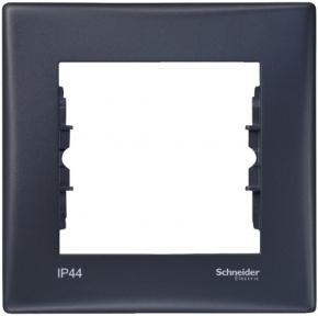 Schneider Sedna РАМКА 1-П IP44-ВИМИК IP20-РОЗ ГРАФ. SDN5810170