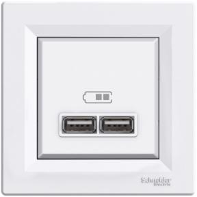 Schneider ASFORA USB розетка 2,1A біла EPH2700221