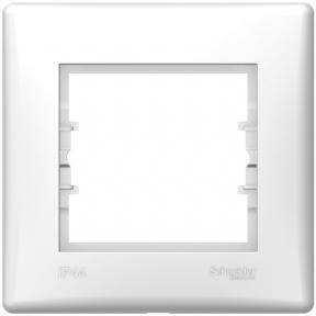 Schneider Sedna Рамка 1 пост IP44 Біл. SDN5810521