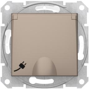 Schneider Sedna Роз. з зк самозаж. Кл.з криш. IP44 Титан SDN3100568