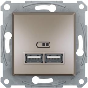 Schneider ASFORA USB розетка 2,1A бронза EPH2700269