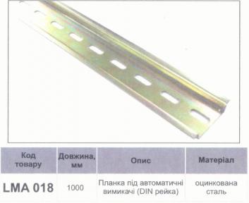 Планка під автомати LEMANSO 1 м / LMA018 79008