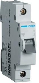Автоматичний вимикач Hager 1P 6kA B-10A 1M MB110A