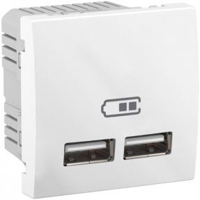 Schneider Unica USB розетка 2,1A біла Unica MGU3.418.18