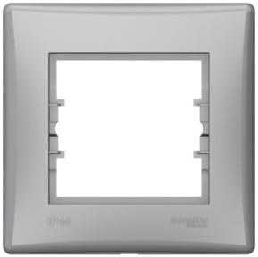 Schneider Sedna Рамка 1 пост IP44 Алюм. SDN5810560