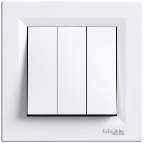 Schneider ASFORA Вимикач 3-х клавішний білий EPH2100121