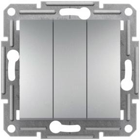 Schneider ASFORA Вимикач 3-х клавішний алюм. EPH2100161